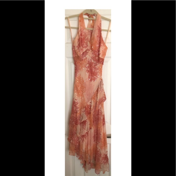 BCBGMaxAzria Dresses & Skirts - Beautiful Pink halter dress!